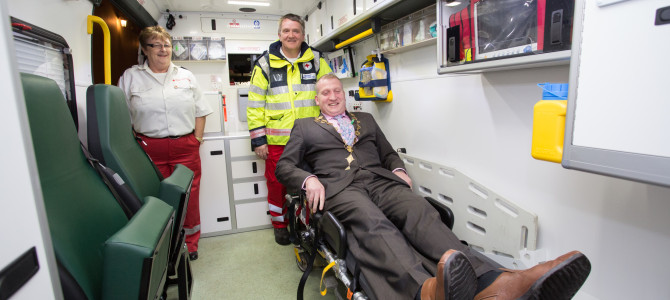 Mayor launches newest Irish Red Cross ambulance in Limerick
