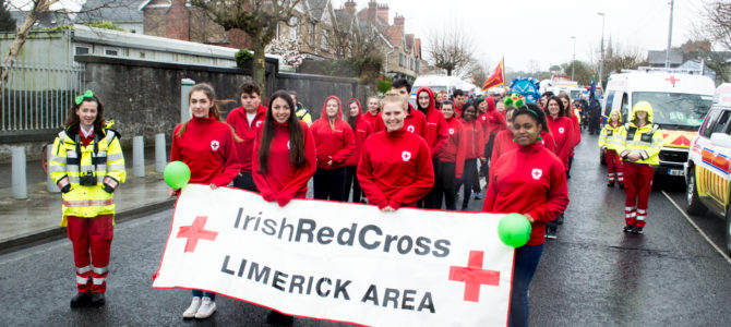 The Limerick Area of the Irish Red Cross on St.Patrick's Day