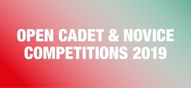 Open Cadet & Novice Competitions 2019